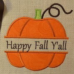 Split Pumpkin Applique - 3 Sizes! | Seasons | Machine Embroidery Designs | SWAKembroidery.com