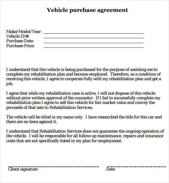 Car Buying Contract Template Beautiful Sample Vehicle Purchase Agreement 19 Documents In Pdf Word Purchase Agreement Contract Template Car Purchase