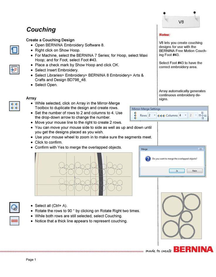 Best bernina software images on pinterest