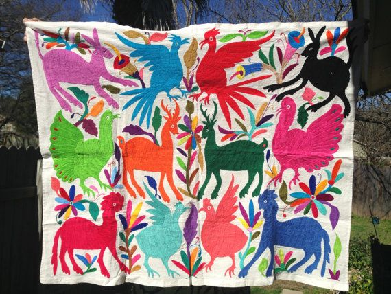 Beautiful Handmade Embroidered Mexican Otomi Animal by OjoDeVenado
