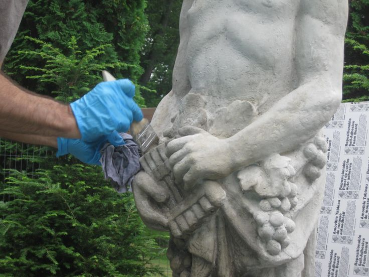 The EASY Way to Age a New Cement Statue | A Garden for the House