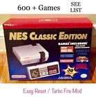 NES Classic Mini Nintendo Console MODDED  Hacked Mod 600  Games FAST SHIPPING