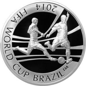 Coin: 100 Tenge (2014 FIFA World Cup Brazil) (Kazakhstan)