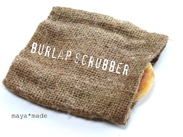 Neat idea on using burlap as cleaning tool courtesy of Maya from her blog!
