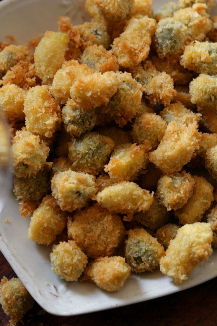 NYT Cooking: Deep-Fried Garlic Cloves and Green Olives