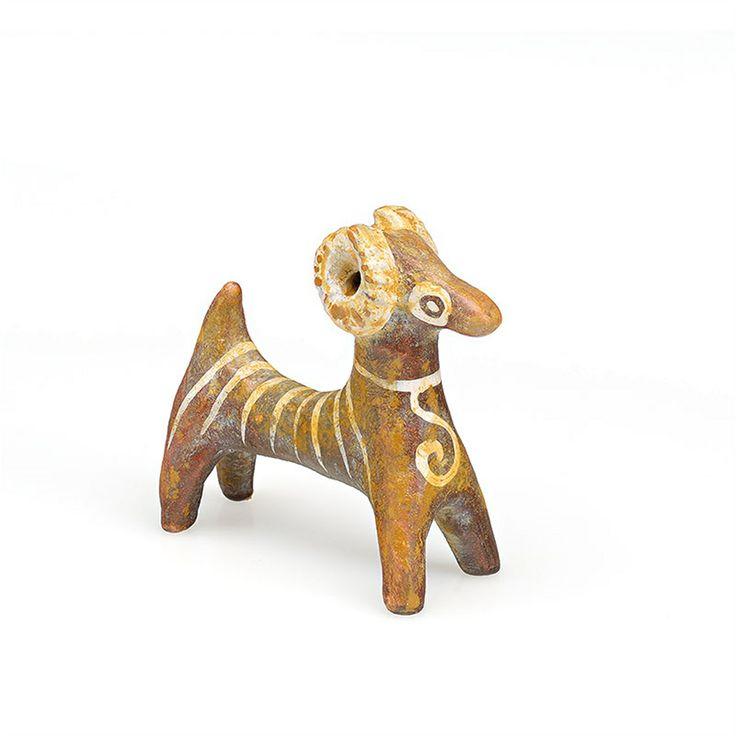 Miniature ceramic ram in elegant custom-made paper box