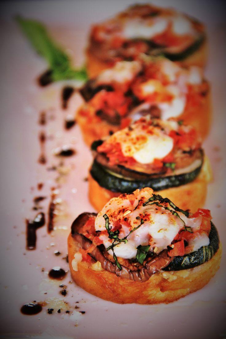 Portobello Mushroom and Lobster bruschetta