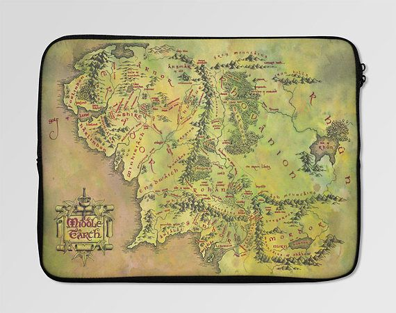Middle Earth Map Laptop Sleeve Case  LSC-0009