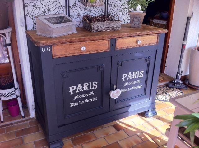 25 best ideas about peinture meuble on pinterest - Peinture noir mat pour meuble en bois ...