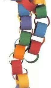 paper chains. We made these at school every Christmas time in the infants and juniors