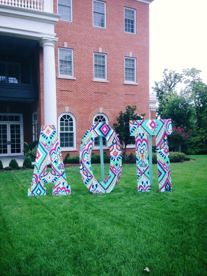 alpha omicron pi lawn letters