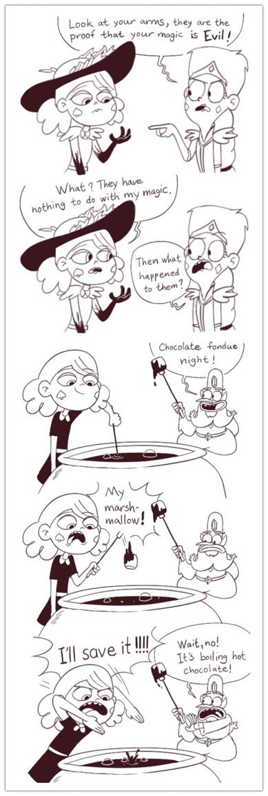 Don't listen to the crazy blue man Eclipsa, SAVE THE MARSHMALLOW!!!