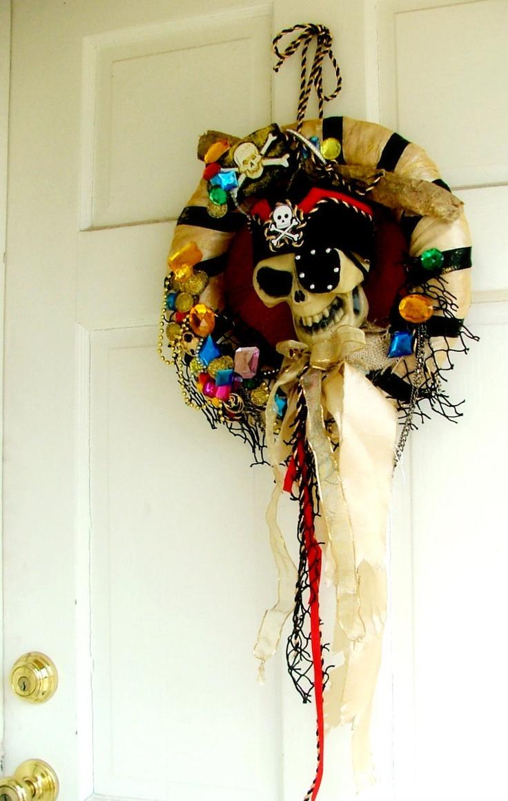 Pirate Wreath- extra jewels. $75.00, via Etsy.