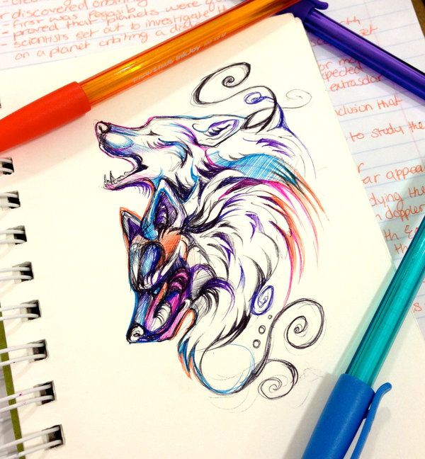 Two Wolves by Lucky978 on DeviantArt