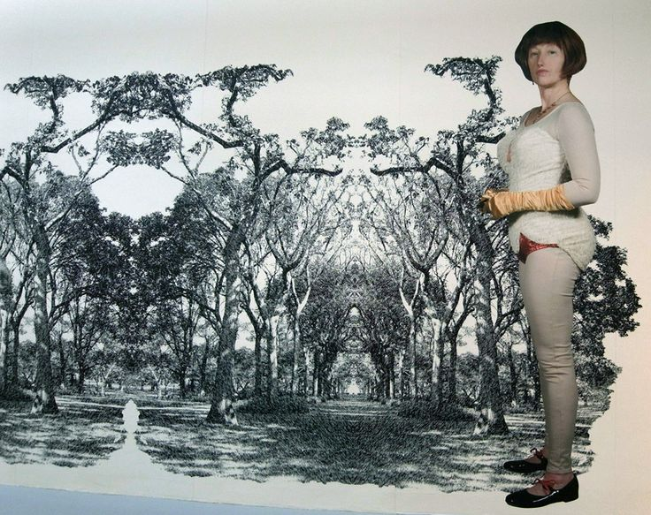 Cindy Sherman at Venice Art Biennale. In this mural she is dressed as a tap dancer. I love Sherman's work.