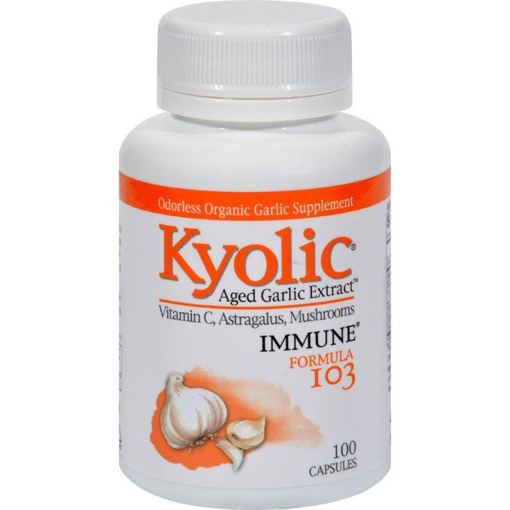 Kyolic Aged Garlic Extract Immune Formula 103 - 100 Capsules