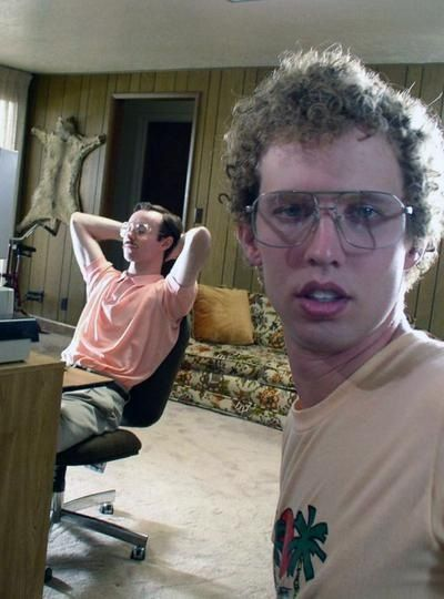 10 Cool Celebrity Selfies that you've probably never seen ~ Jon Heder, on set of Napoleon Dynamite