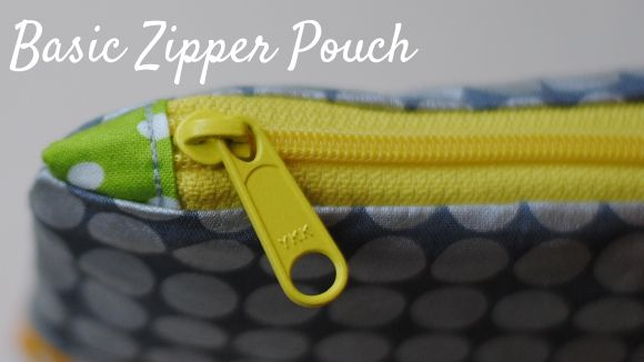 Zippers 101 :: Basic Zipper Pouch - Great tutorial on how to insert the zipper and use zipper tabs and avoid all the bulk. Also great tip to avoid having to pin the zipper in place when sewing!
