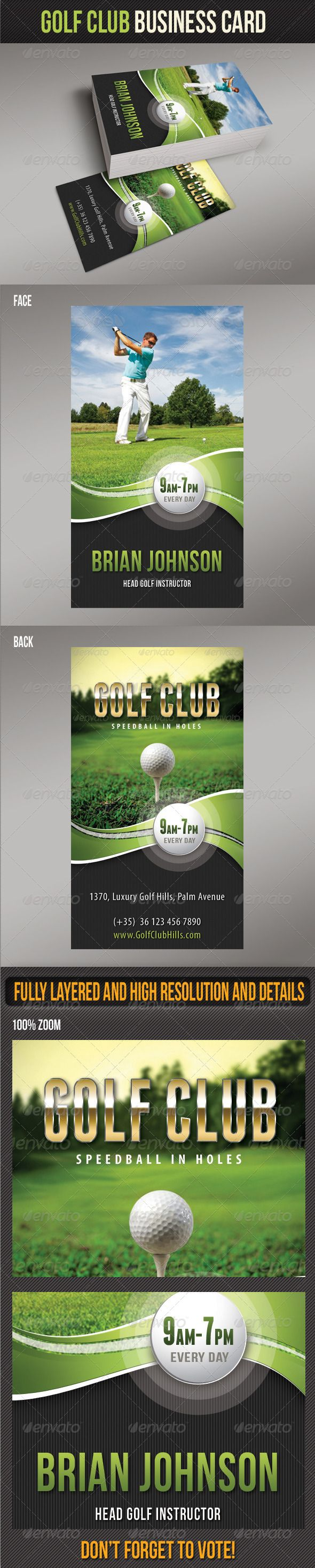 16 best golf instructor business cards images on pinterest golf club business card 1betcityfo Choice Image