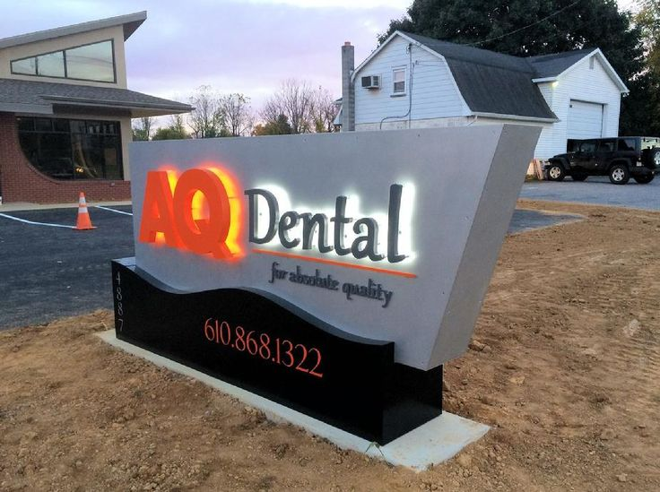 LED lettering, Channel letters Dentist office signs