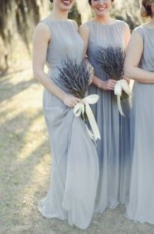 Blue-grey bridesmaids dresses | Alea Moore Photography. #wedding #fashion