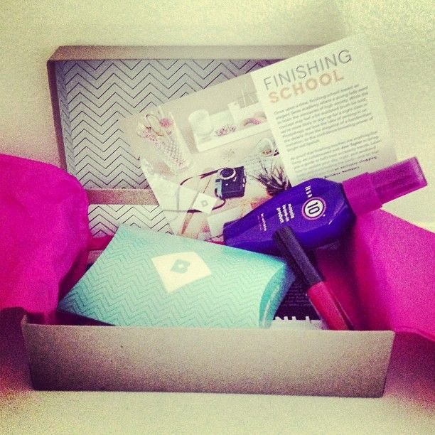 Best day of the month? Whatever day our @birchbox comes! #bbfinishingschool