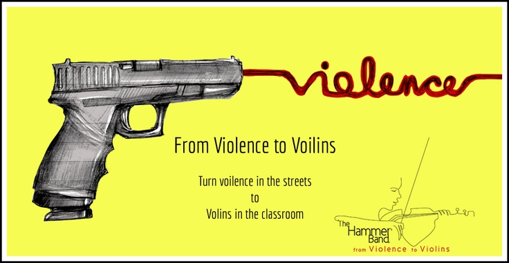 """""""Preventing Violence through Violins""""  """"More time with the violin less time on the street"""""""