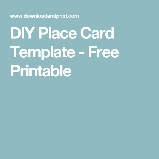 25+ unique Free place card template ideas on Pinterest DIY place - name card format