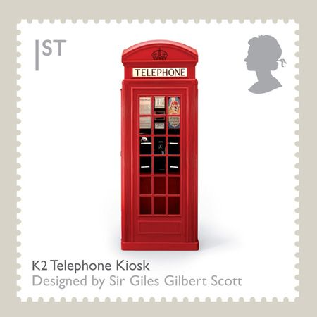 British Telephone Booth StampTelephone Kiosk, Royal Mail, Telephone Boxes, British Design, British Royal, British Stamps, Design Classic, Phones Boxes, Postage Stamps