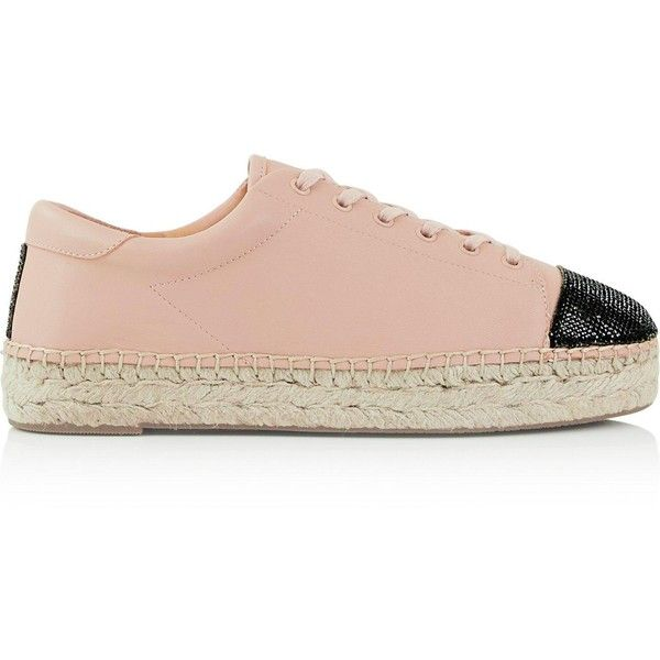 Kendall + Kylie Joslyn Leather Lace Up Espadrilles (475 BRL) ❤ liked on Polyvore featuring shoes, sandals, beige, espadrilles shoes, leather lace up sandals, leather lace up shoes and espadrille sandals
