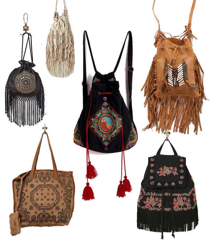 ☮ American Hippie Bohemian Style ~ Boho Fringe Bags!