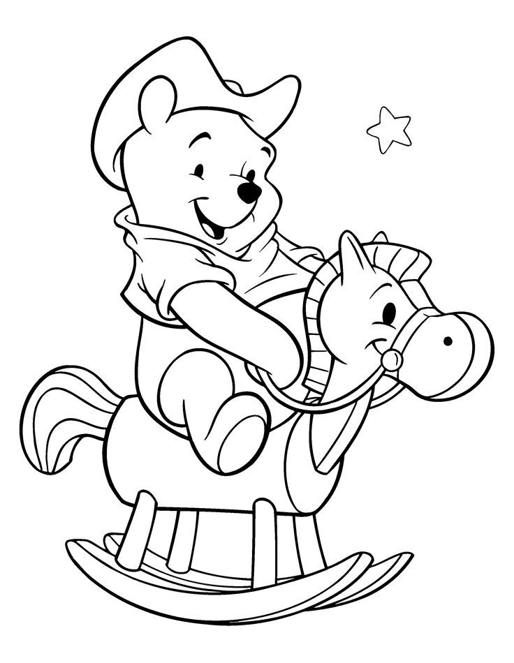 76 best winnie the pooh coloring pages images on pinterest ... - Pooh Bear Coloring Pages Birthday
