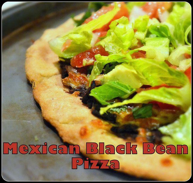 Mexican Black Bean Pizza | Savory | Pinterest