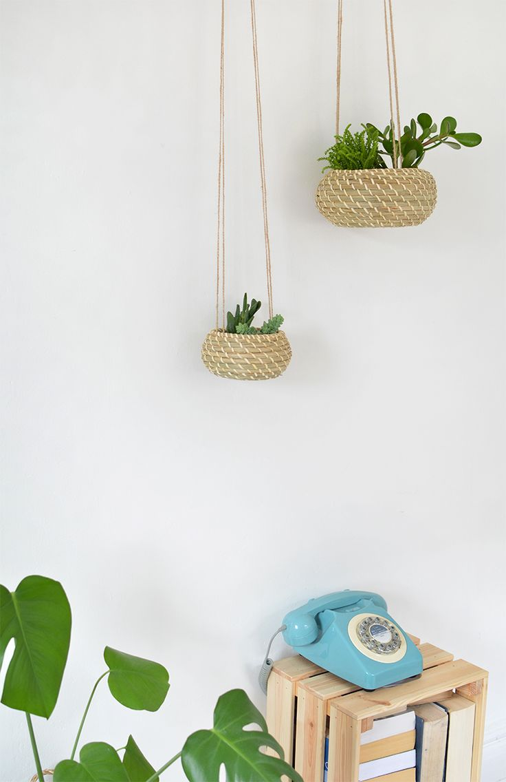 DIY | seagrass hanging planters