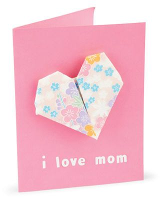 Kids Origami Heart #Valentine #Card