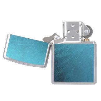 Frost Frozen Metallic Blue Turquoise Winter Zippo Lighter