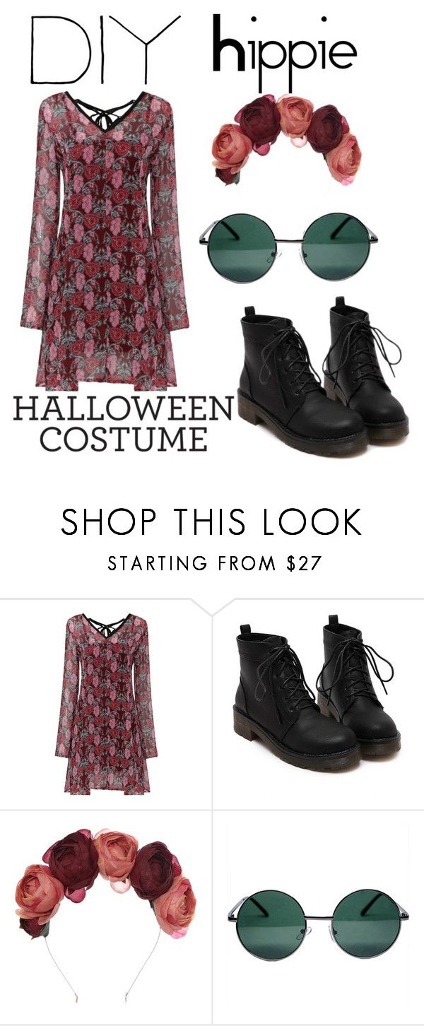 """""""DIY Halloween Costume - Hippie ♥"""" by jovanaa-bogdanovic ❤ liked on Polyvore featuring Crown and Glory and YHF"""