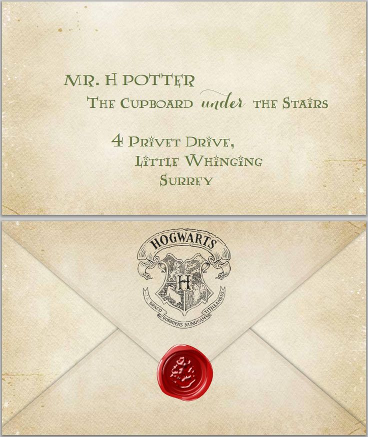 Terrible image for hogwarts letter printable