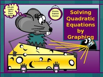 "The following lesson covers ""Solving Quadratic Equations by Graphing"". * Students begin by reviewing Standard Form for a Quadratic Equation * Students learn where to locate the solutions to a Quadratic Equation on the Cartesian Plane. * Students learn three inter-changeable ways to refer"