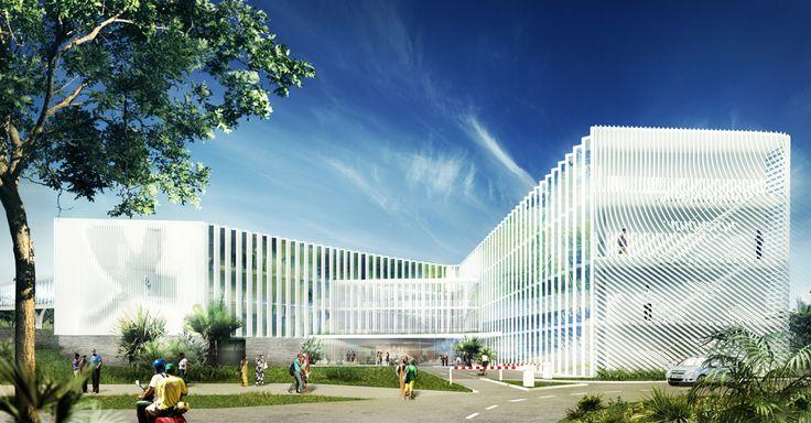 Hôtel d'entreprises et laboratoires des sciences du vivant à St Denis de la Réunion - REC architecture