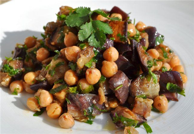 Roasted Eggplant and Chickpea