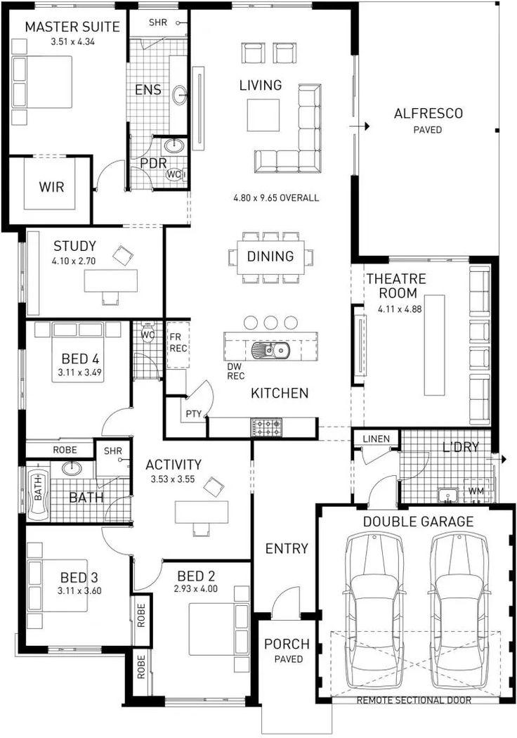 Catherine Bay, Single Storey Master Floor Plan, Western Australia