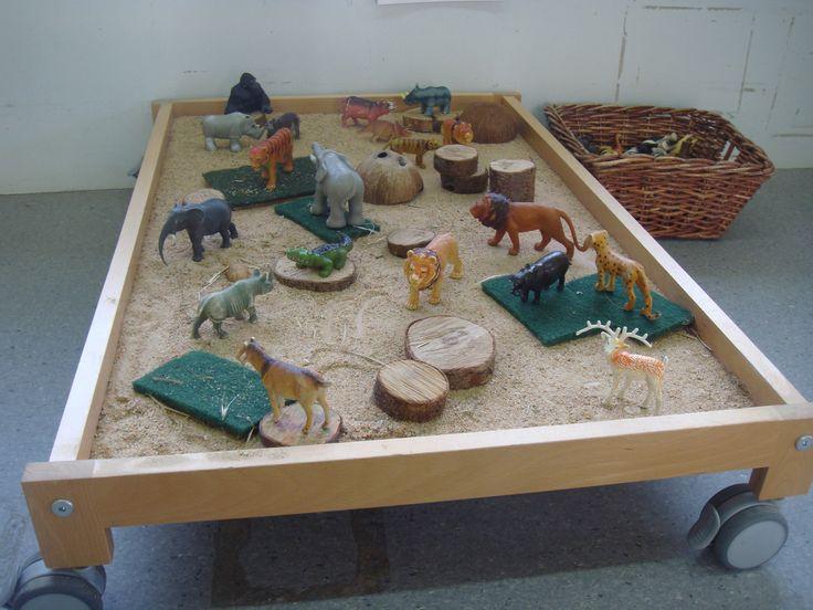 La taula d'exploració d'animals