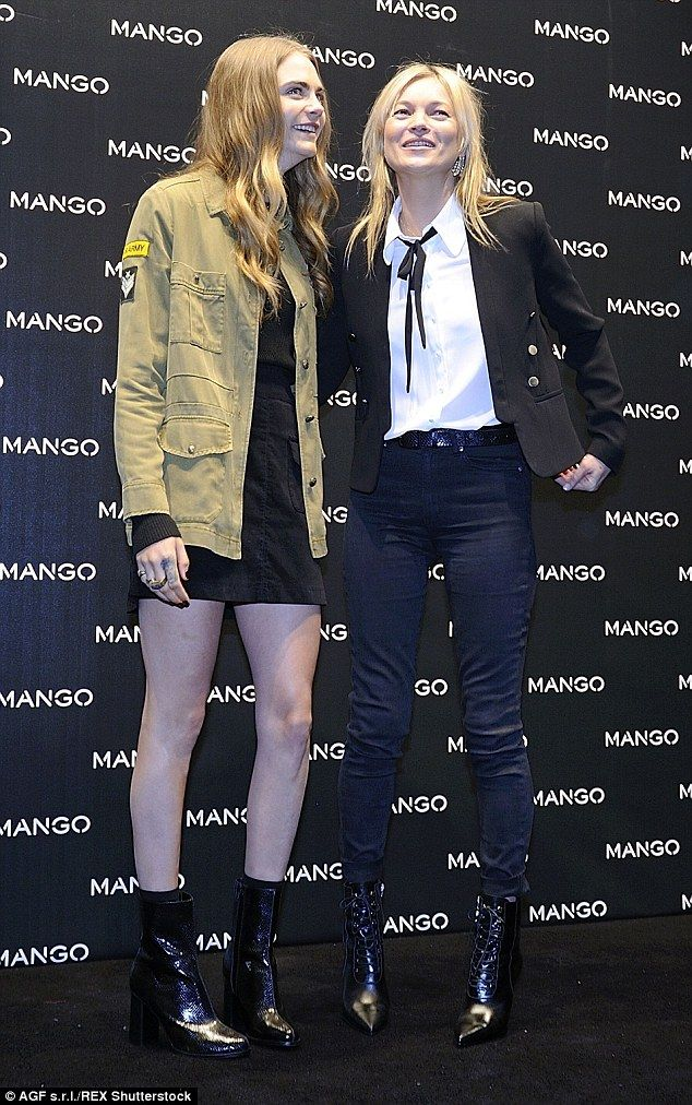 Kate Moss and Cara Delevingne unite for Mango store opening in Milan #dailymail