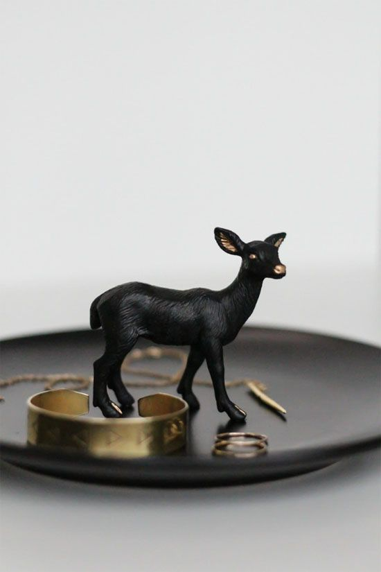 DIY animal figurine jewelry dish