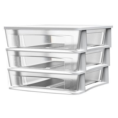Shop BELLA Contemporary Storage Clear Plastic Desktop Drawer (Set of at Loweu0027s Canada. Find our selection of totes bins u0026 boxes at the lowest price ...  sc 1 st  Pinterest & The 100+ best *Tool Storage u0026 Organization u003e Tool Boxes* images on ...