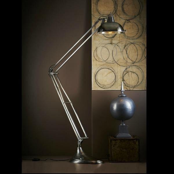 Mercury Adjustable Industrial Silver Floor Lamp – Luminous Lamps