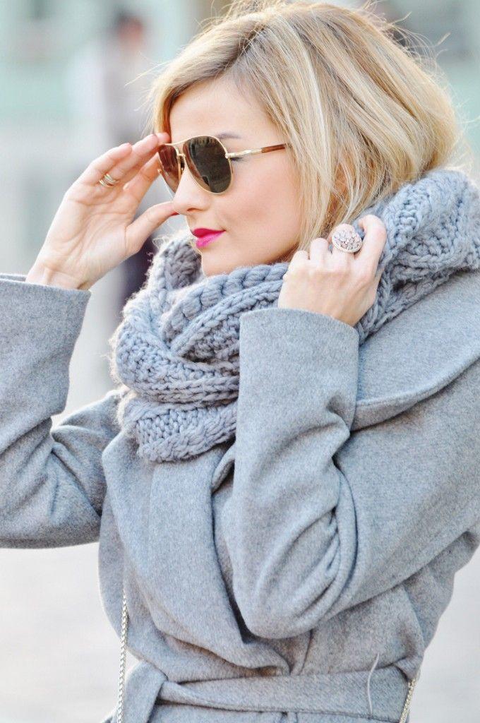fashionable.com.pl style, fashion, stylizacja, Mango, grey, szary, LiuJo