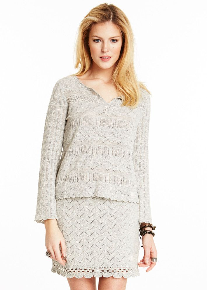 Odd Molly Paracute Sweater 715M-402 light grey melange – acorns