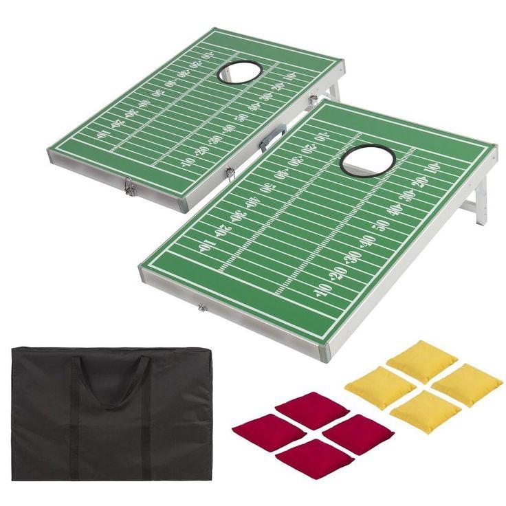 Cornhole Bag Toss Game Set Boards Bags Bean Hole Beanbag Carry Case Football  #BestChoice